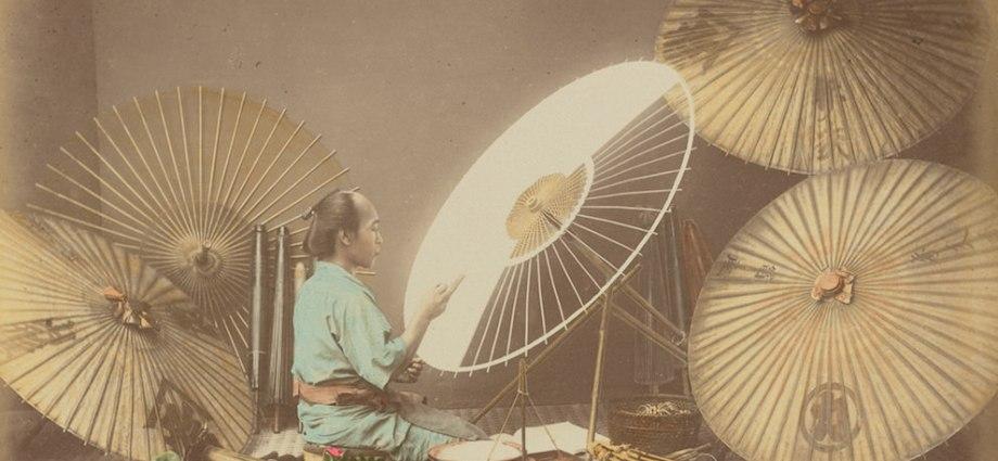 Japanese umbrella maker