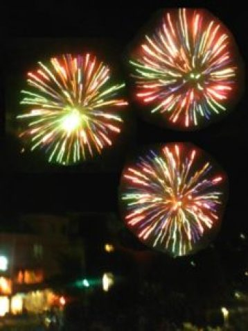 variety of colored fireworks