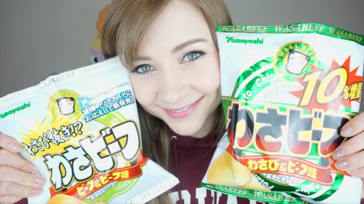 Wasabi and Beef and Potato Chips in One Snack: WASABEEF