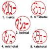Font selection for Katakana Hanko