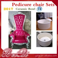 2017 hot sale king throne pedicure chair with round