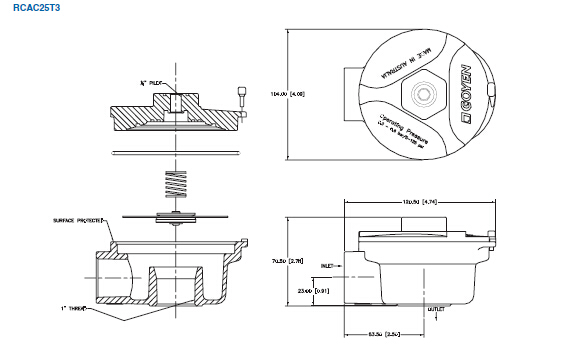 Goyen Type Diaphragm repair kit K2529 Nitrile 1
