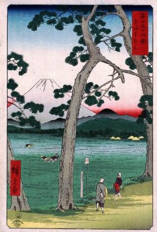 Fuji on the Left of Tokaido Road