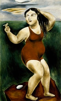 Bather with Cigarette