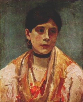Flower Girl of Ciociaria Italy 1908