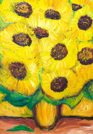 Sunflower Pattern Theme by van Gogh