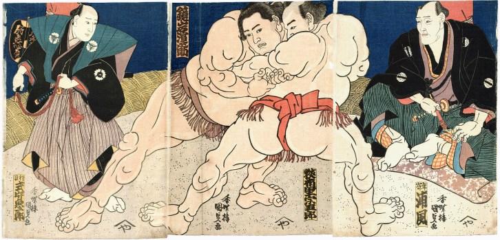 Sumo Triptychon c1860s