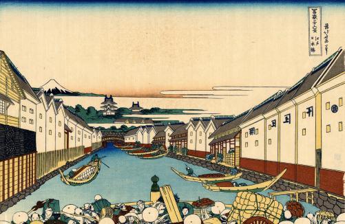 Nihonbashi Bridge in Edo