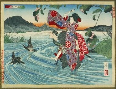 The Demon Omatsu Murders Shirosaburō in the Ford