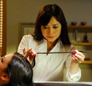 Yuko Yamashita hair straightening