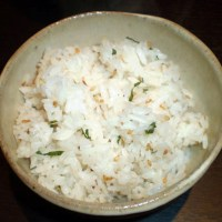 Shiso-gohan: Rice flavored with shiso leaves