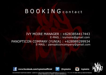 IVY MOIRE BOOKING CONTACT