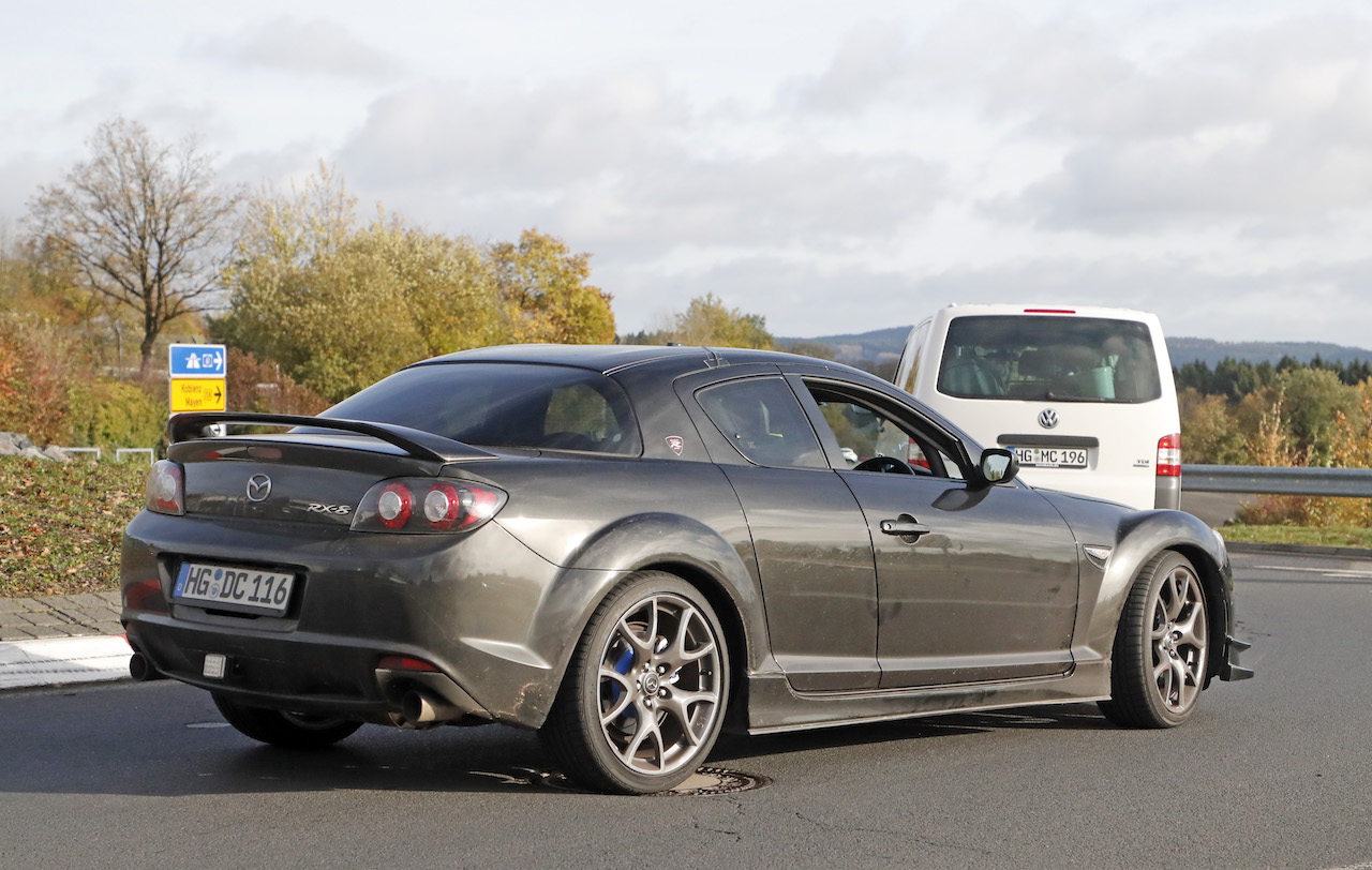 Old Time Car Wallpaper News Mazda Still Testing Rotary Engine In Rx 8 Mule