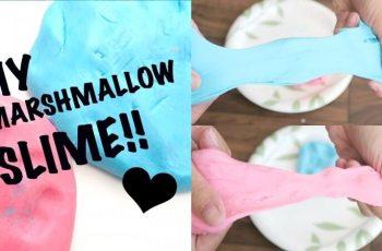 cara membuat slime Marshmallow