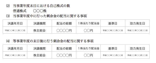 個別注記表 非公開株式会社2