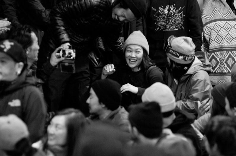Tenjin banked slalom 2017 Yoko Nakamura happy