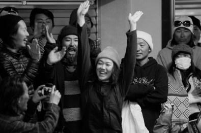 Tenjin banked slalom 2017 Yoko Nakamura hands up