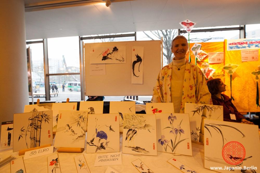 Sumi-e Künstlerin Rita Böhm