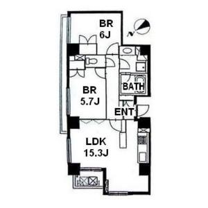 2LDK Apartment Floorplan