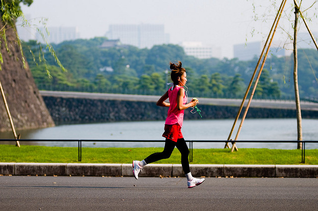 A jogger near the Imperial Palace