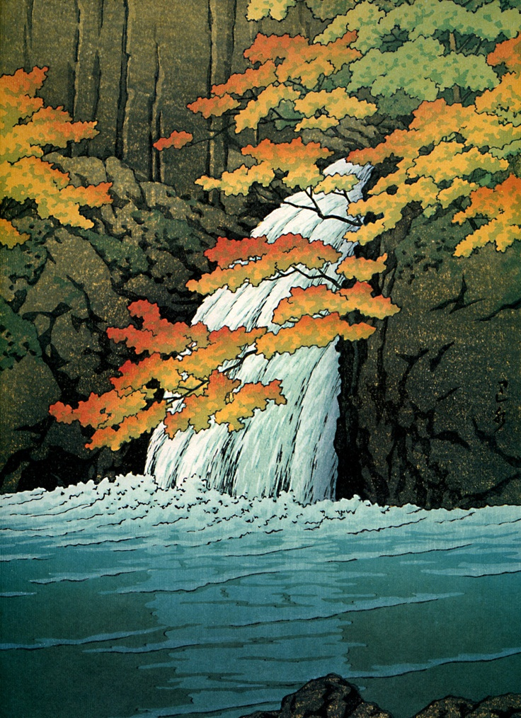 Art On Tuesday Waterfall Japan Kaleidoskop
