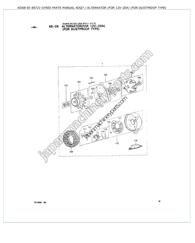 hight resolution of  alternator for dustproof type
