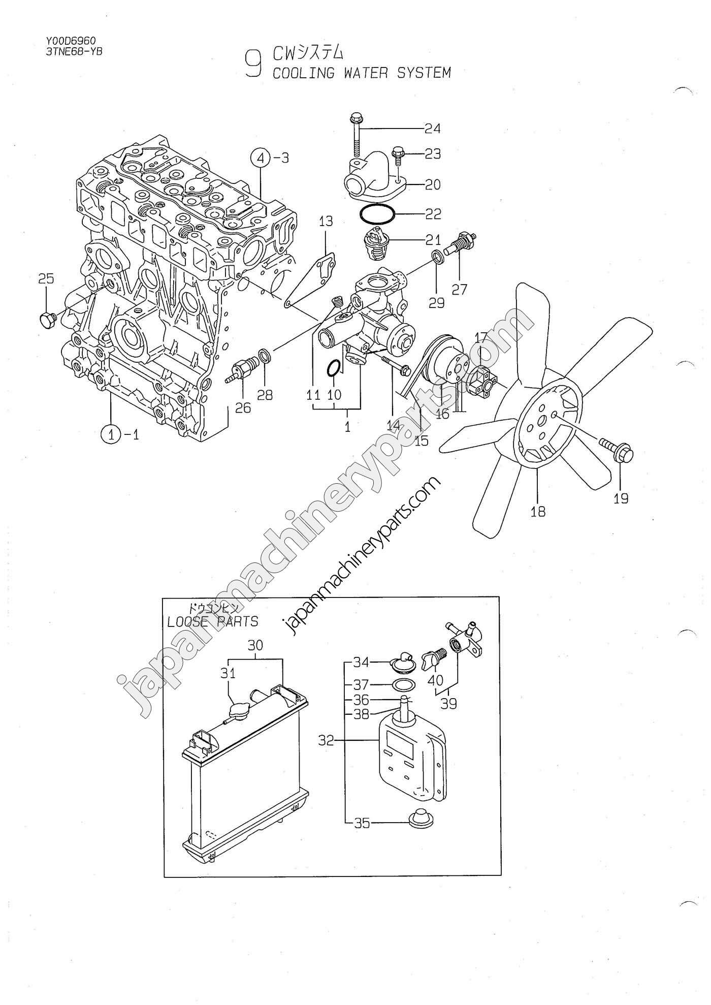 Yanmar Parts Diagram