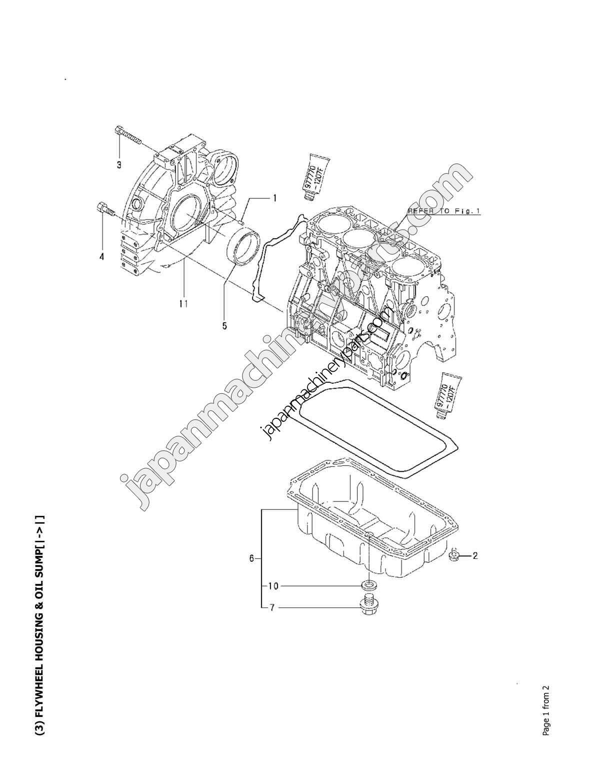 Parts for YANMAR 4TNV98-XBV
