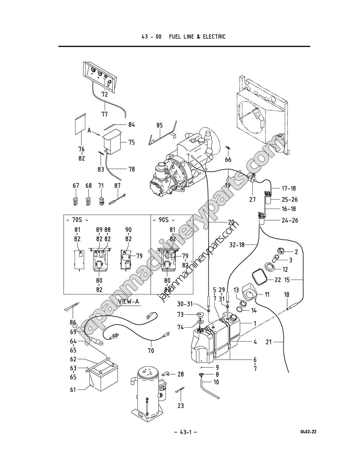 Parts For Airman Pds70s 90s 5b1