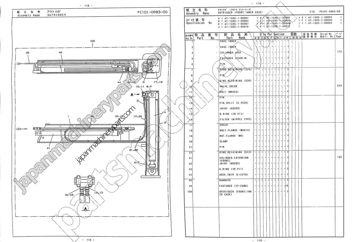 Parts for TADANO AT-150S-1