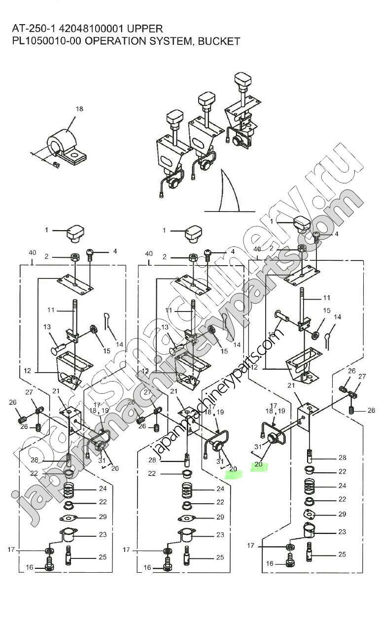 Parts for TADANO AT-250-1