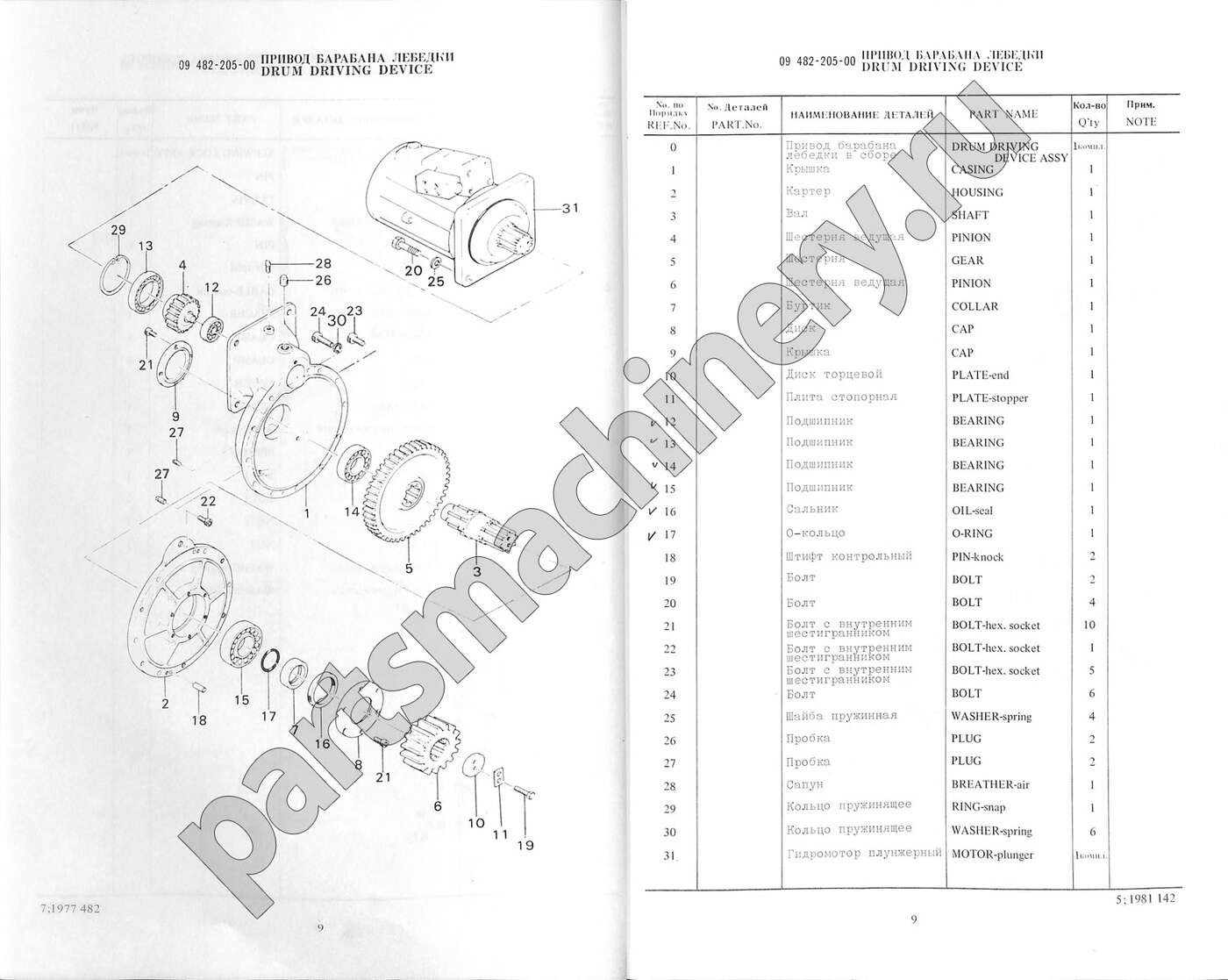 Parts For Isuzu Nk 750ys