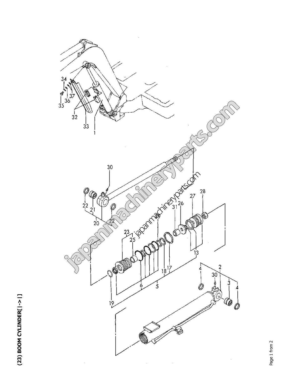 Parts for YANMAR B27-2
