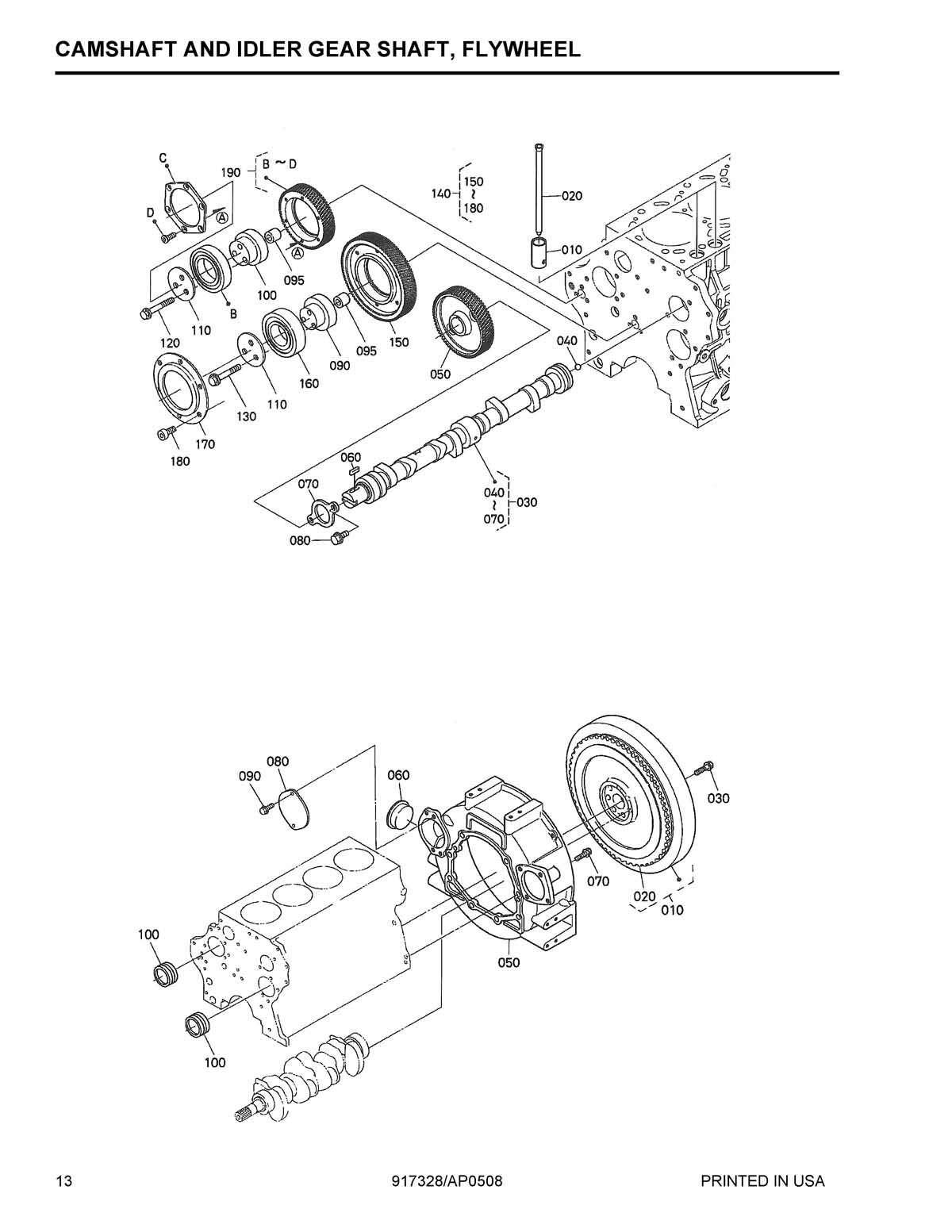 Parts for KUBOTA V3800-DI-T
