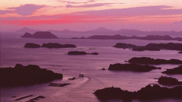 Sunset Sushi Dinner Live from a cruise yacht in Kujūku Islands in Sasebo, Nagasaki.