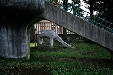 An old children's playground in Akabane, by Paul Rasmussen