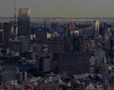 Tokyo city skyline seen from Tokyo Metropolitan Government Building, Shinjuku