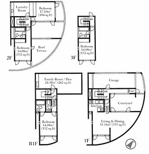 Tadao Ando Floor Plans Koshino House Ground Plan