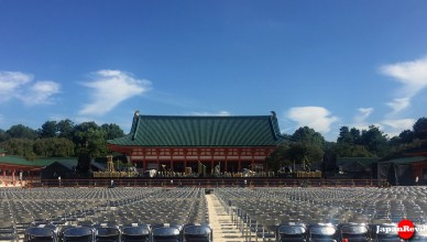 Concert setup at Heian-jingu Shrine