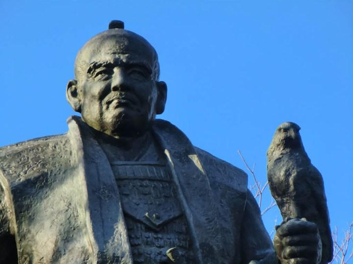 Tokugawa Ieyasu and a falcon.