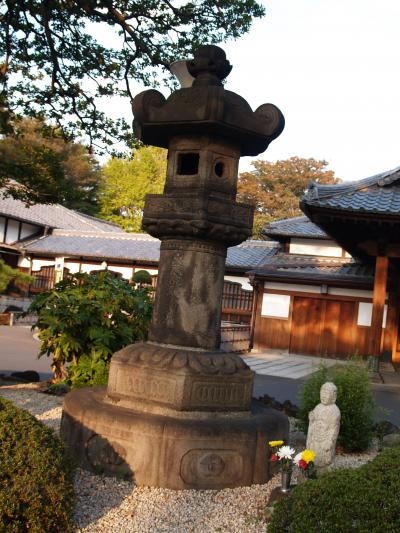 There are a few other stone lamps dedicated to the third shogun Iemitsu scattered around Kan'ei-ji. The mystery is: was Iemitsu's grave converted into Ietsuna's or were pieces just borrowed?
