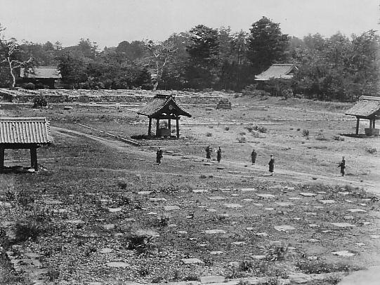 This famous photo shows the striking aftermath of the Battle of Ueno. The debris has been cleaned up, but all that remains are a few isolated structures. (look ma! more water basins!)