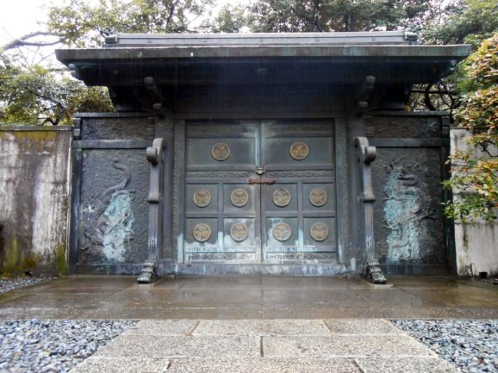 Fire damaged doors of Bunshoin (the grave of Tokugawa Ienobu).
