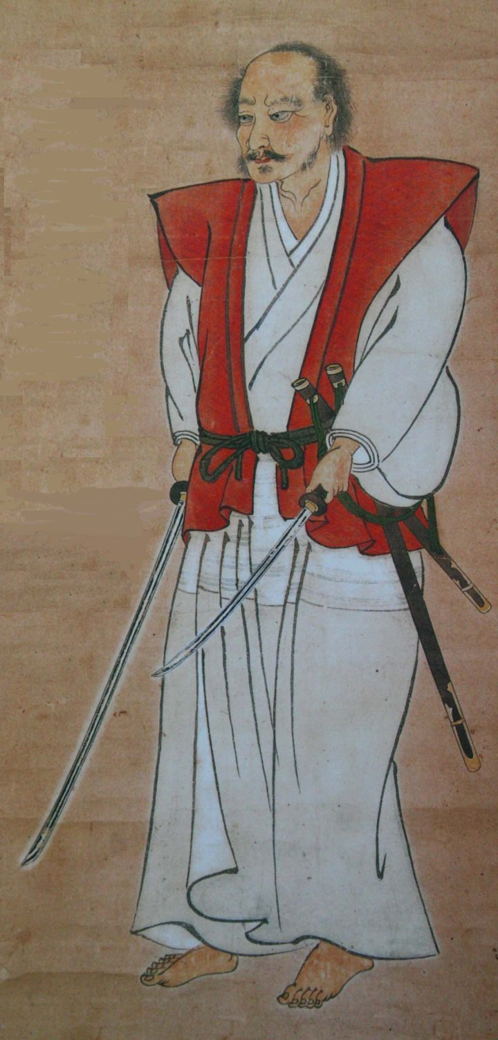 Miyamoto Musashi, drunk and stoned. I know the questions will come. What's the connection between Miyamoto Musashi and Musashi Province. I beg someone else to answer the question for me....  because it's not a good story. lol