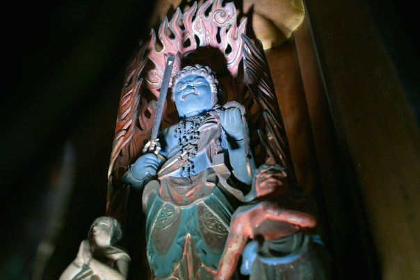 If you've seen one Buddha, you've seen them all. Please meet Acala, another demon-looking Buddha.
