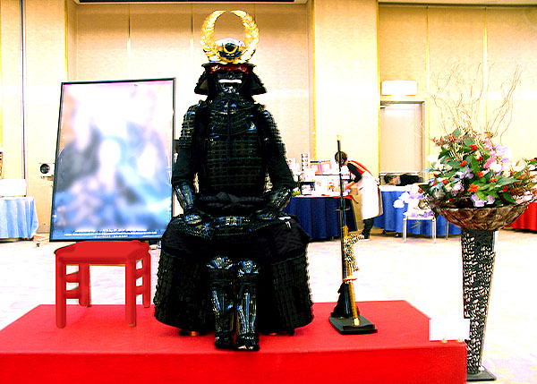 Replica of the armor that Ieyasu wore at the battle of Sekigahara.  Pretty freaking Darth Vadery of him.