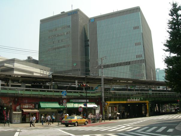 Yurakucho Station. The elevated train has been a feature of the area for a long time.