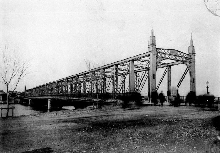 The truss bridge. It looks like shit to modern eyes, but I imagine Meiji people walking through it like a kid in a car wash.
