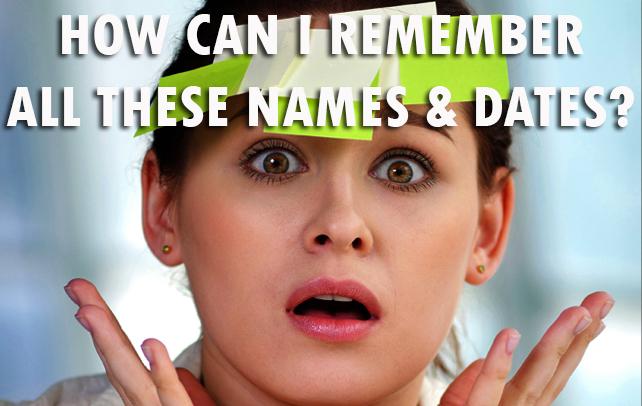 names & dates