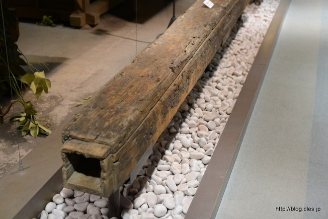 An Edo Period water pipe. (I mean a pipe that carries water, not a bong.)